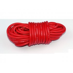 Fil silicone AWG12 - 3,58mm² rouge (1m)