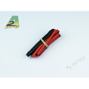 Tube thermo 3mm rouge+noir (2 x 50cm)