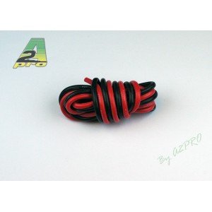 Fil silicone AWG14 - 2.12mm² rouge+noir (2x1m)