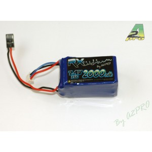 Pack Lipo Rx 2000mAh / 7.4V / JR