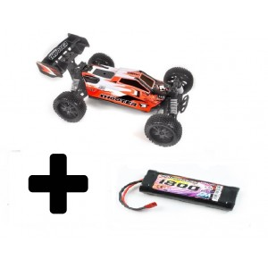 Pirate Shooter rouge 1/9 RTR + 1 batterie 7.2V/1800mAh
